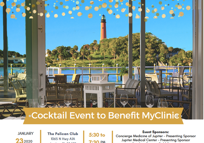 Cocktail Reception to benefit MyClinic held at Pelican Club in Jupiter